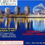 Educational Seminar by Cape Breton University , Canada